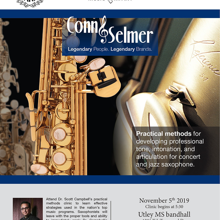 Saxophone Clinic with Dr. Scott Campbell