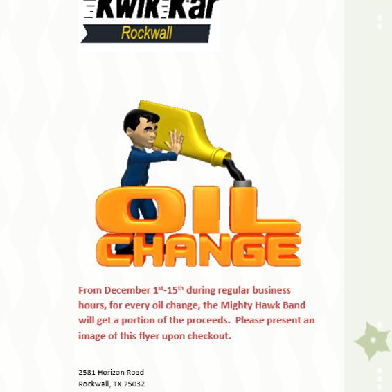 Get your Oil Change at Kwik Kar!