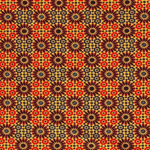 Bomull Jersey Mozaik Oker