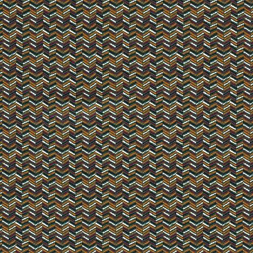 Bomull Jersey Mønster Mørkgrønn