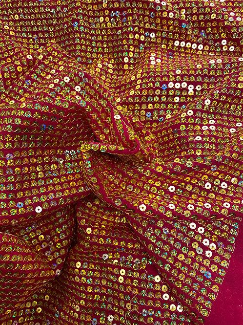 Gull Paljetter rosa chiffon
