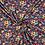Thumbnail: Bomull Jersey Blomster Kobolt