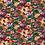 Thumbnail: Bomull Jersey Blomster Grønn