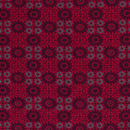Bomull Jersey Mozaik Vinrød