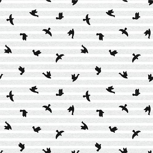 Bomsulls Jersey m/ Fugler Lysgrå
