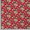 Thumbnail: Bomull Jersey Blomster Vinrød