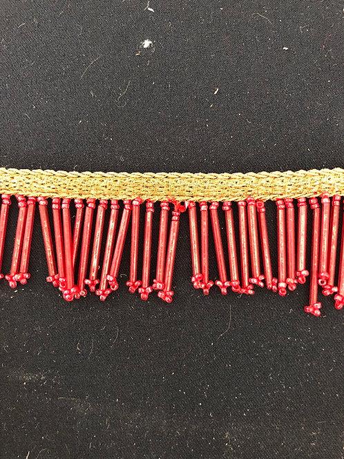 Frynsebånd rød 4cm