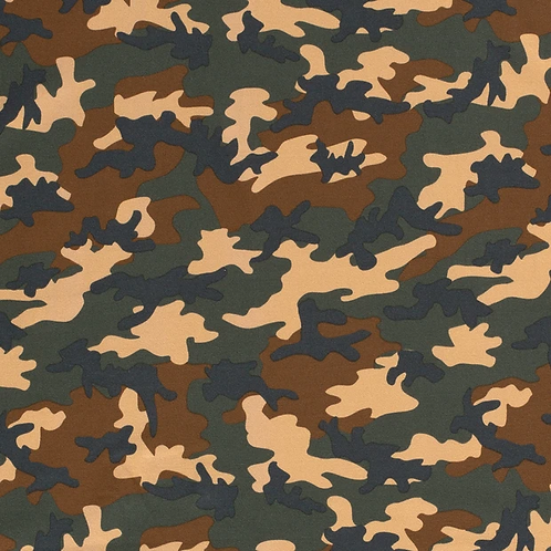 Bomull Jersey Camouflage Camel