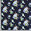 Thumbnail: Bomull Jersey Blomster Marineblå
