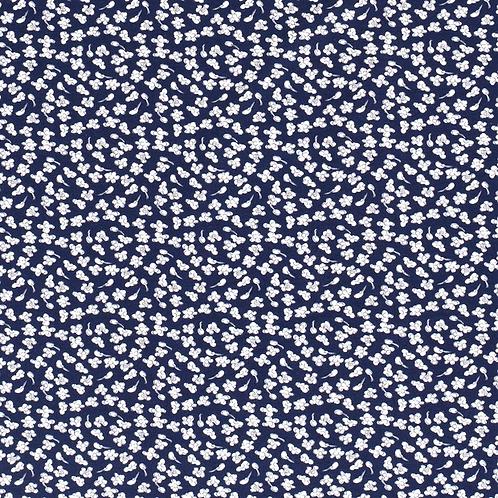 Bomull Jersey Popcor Marineblå
