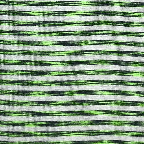 Bomull Jersey Lime Green m/ striper