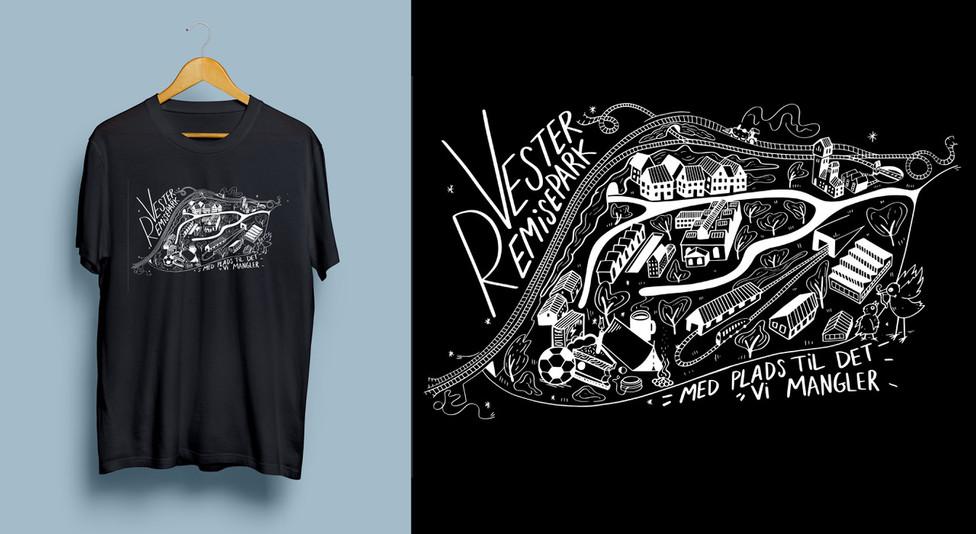 Vester Remise Park Tshirt RoarLerche Dk