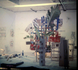 Studio with  Paper Painting.   1976  1976