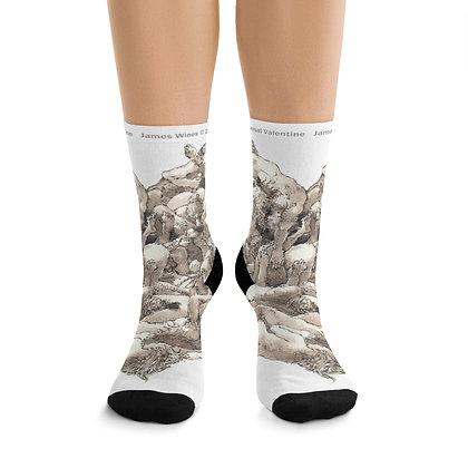"James Wines ""Universal Valentine "" socks"