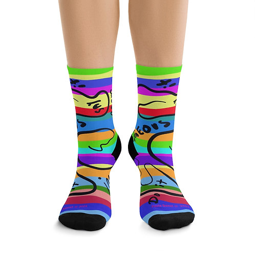Paula's  Proverbs Spontaneous socks