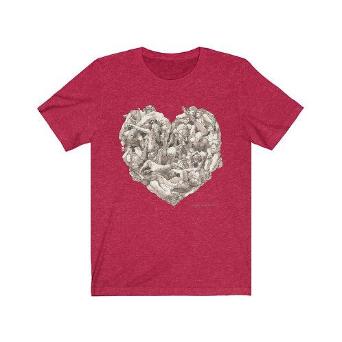 """James Wines """"Universal Valentine""""  big-hearted Unisex Tee"""
