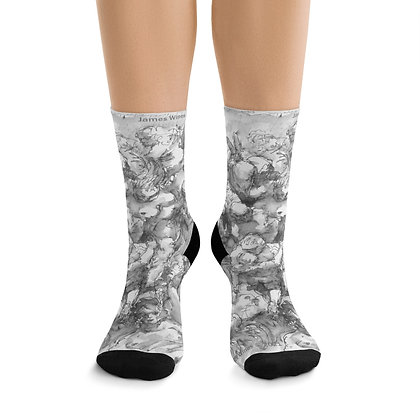 "James Wines ""Marquis de Sade Birthday Party"" socks"