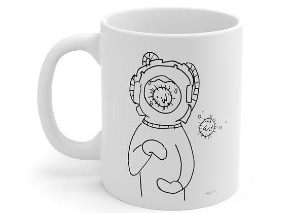Bubble Talk by Marco Koren  Ceramic Mug 11oz