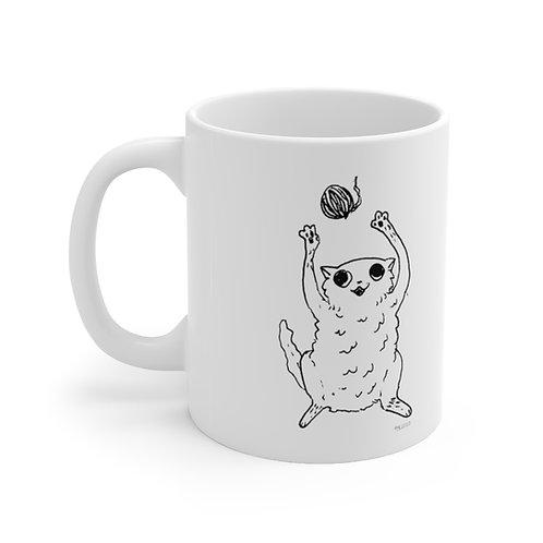 Cat by Marco Koren Ceramic Mug 11oz