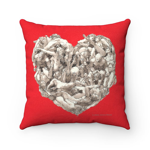 "James Wines ""Universal Valentine""  Pillow"