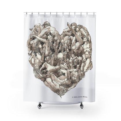 """James Wines """"Universal Valentine"""" shower curtain"""