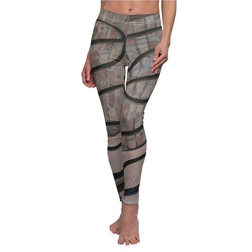 Venetian Black Stripe Brick Leggings