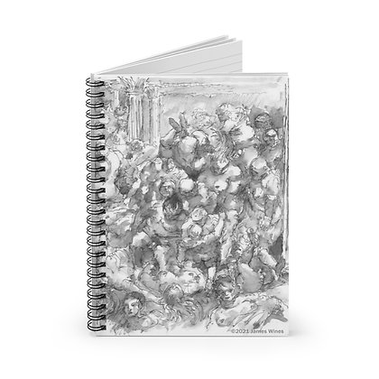 "James Wines ""Marquis de Sade Birthday Party"" notebook"