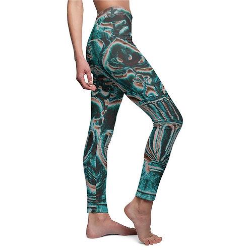 Venetian Turquoise Frieze  Leggings