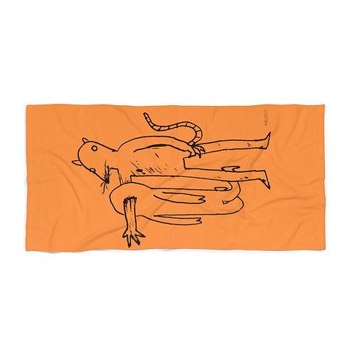 Ratman Fresh Orange Beach Towel