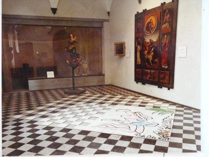 Ceramic Tile Installation at Santa Maria di Castello Genova
