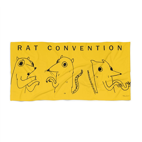 Rat Convention Rowdy Beach Towel