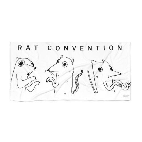 Rat Convention Rowdy White Beach Towel