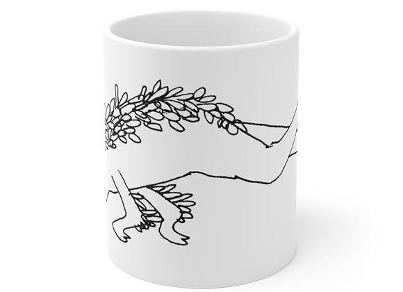 Leaf Person  by Marco Koren Ceramic Mug 11oz
