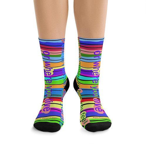 Paula's Proverbs Feel Good socks