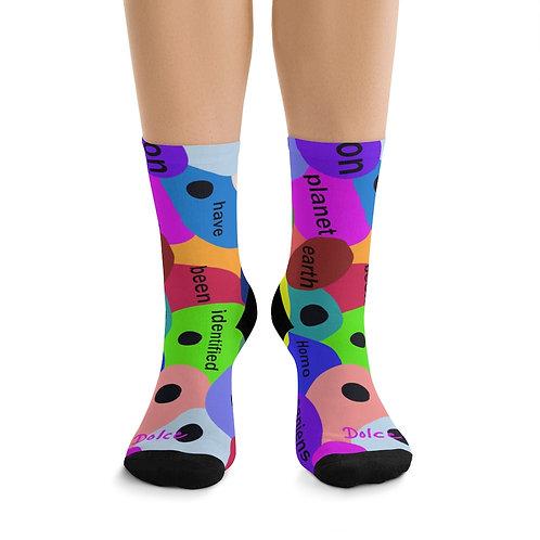 Paula's Proverbs Homo Sapien Polka Dot Socks