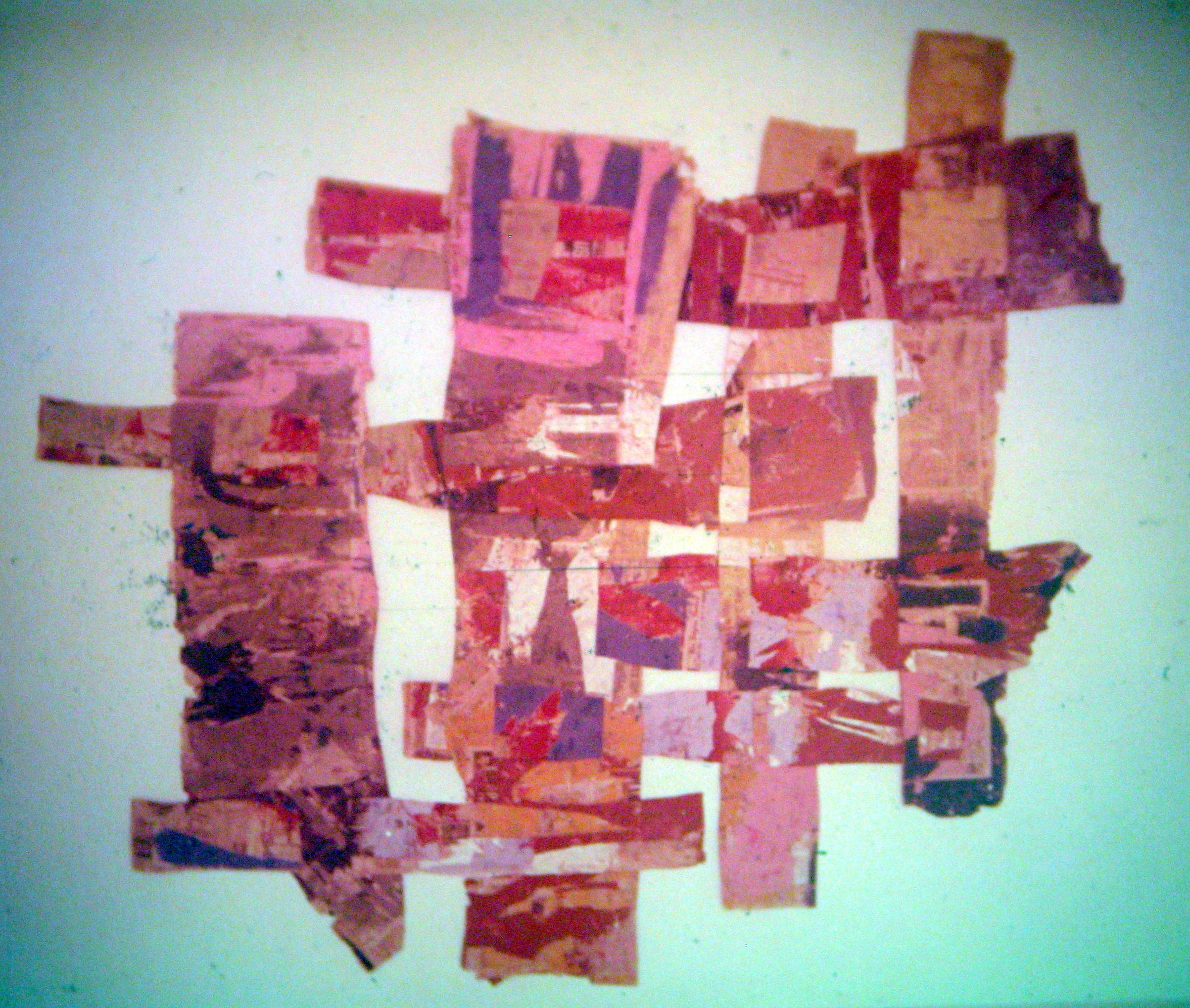 Paper paintings.  1976. Roger Wong Gallery