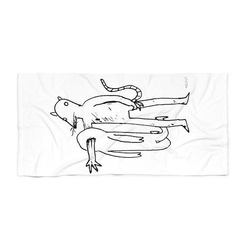 Ratman White Beach Towel