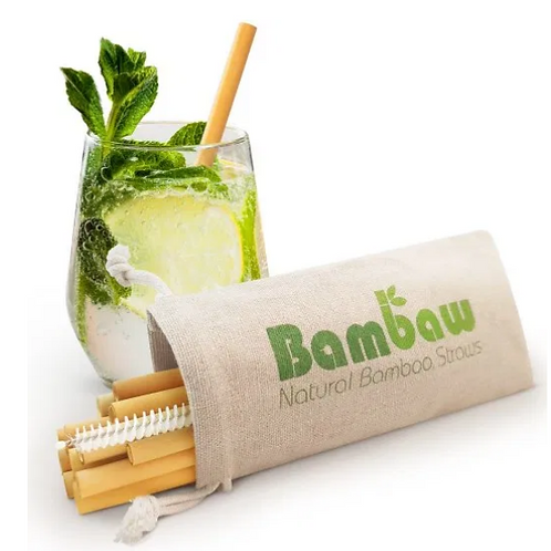 Organic bamboo rietjes