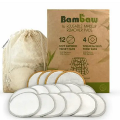 Bamboo make up remover soft pads