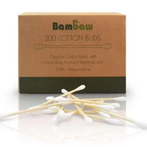 Organic bamboo oorstaafjes