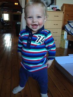 Happy boy age 2