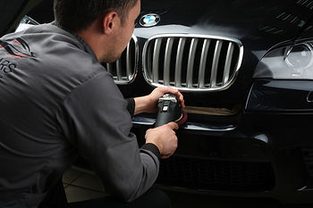 A BMW having paint correction performed on it