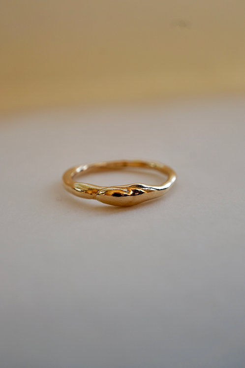 bubble ring gold