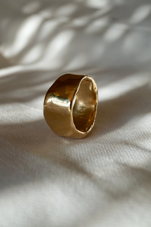 wide ring gold