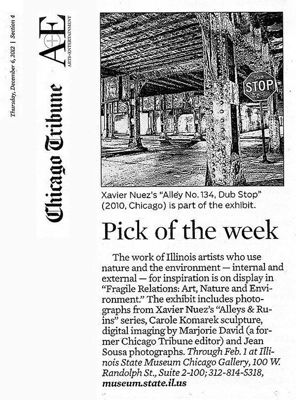 chicago tribune press clipping
