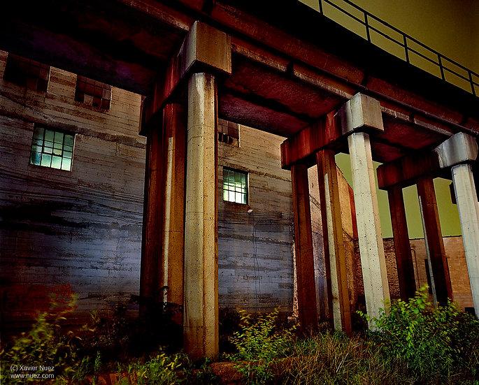 Alleys & Ruins no. 85,  Bridge (2006, St Louis, MO, 1:15am)