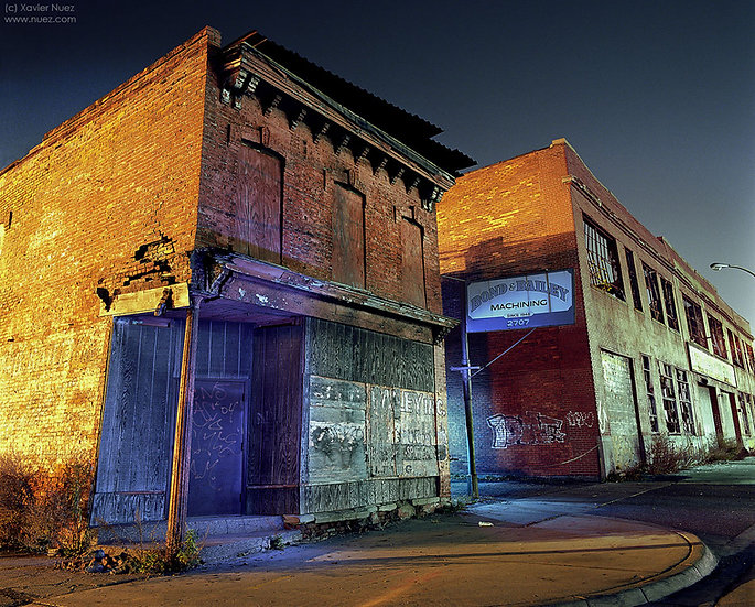Alleys & Ruins no. 129, Bond & Bailey (2009, Detroit, MI, 12am)