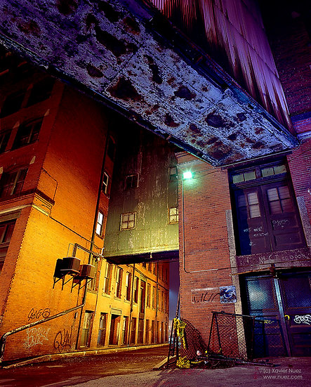 Alleys & Ruins no. 86, Crossroads (2006, Boston, MA, 10:30pm)