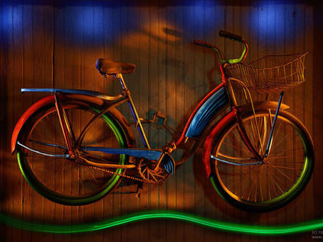 Bicycle Zen... Light Paintings on the march!