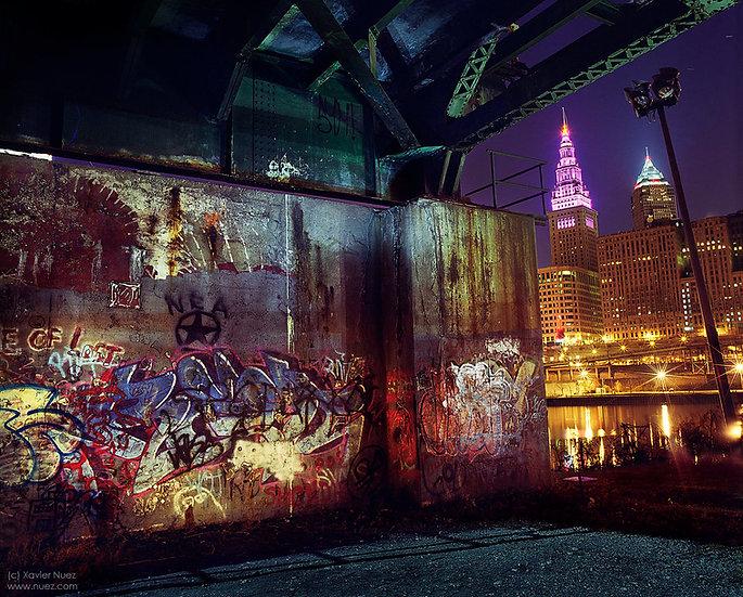"Cleveland Flats rock urban ruins graffiti ""light painting"" ""night photography"" ""art photography"" ""long exposure"" Cuyahoga"